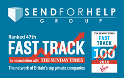LONE WORKER PROTECTION PROVIDER, SEND FOR HELP RANKS 47TH IN FAST TRACK 100