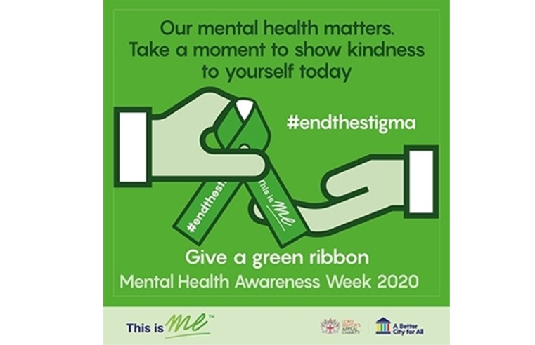 APPEAL TO SHARE GREEN RIBBONS DIGITALLY FOR MENTAL HEALTH AWARENESS WEEK