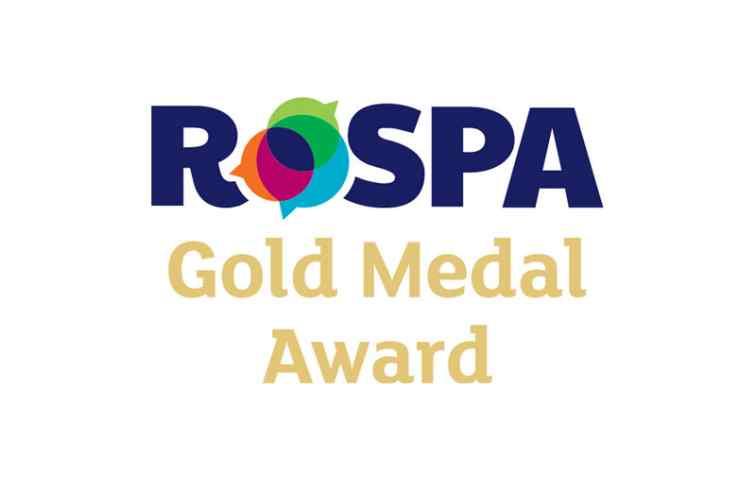 DERWENT RECEIVES ROSPA GOLD AWARD