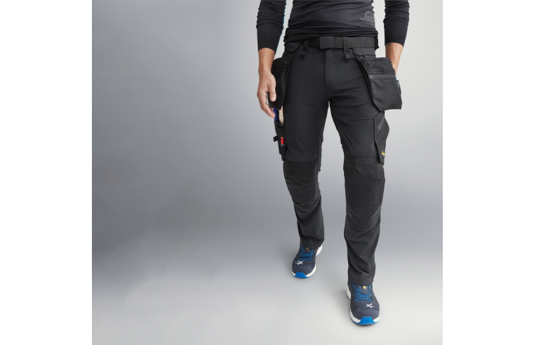 Snickers LiteWork stretch trousers with detachable holster pockets