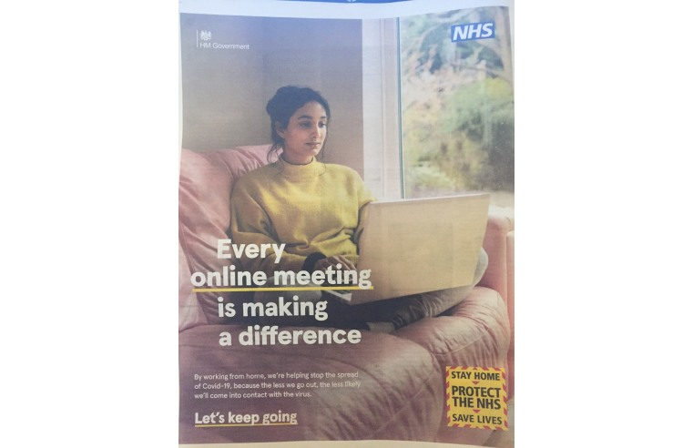 GOVERNMENT ADVERT ON WORKING FROM HOME IRRESPONSIBLE